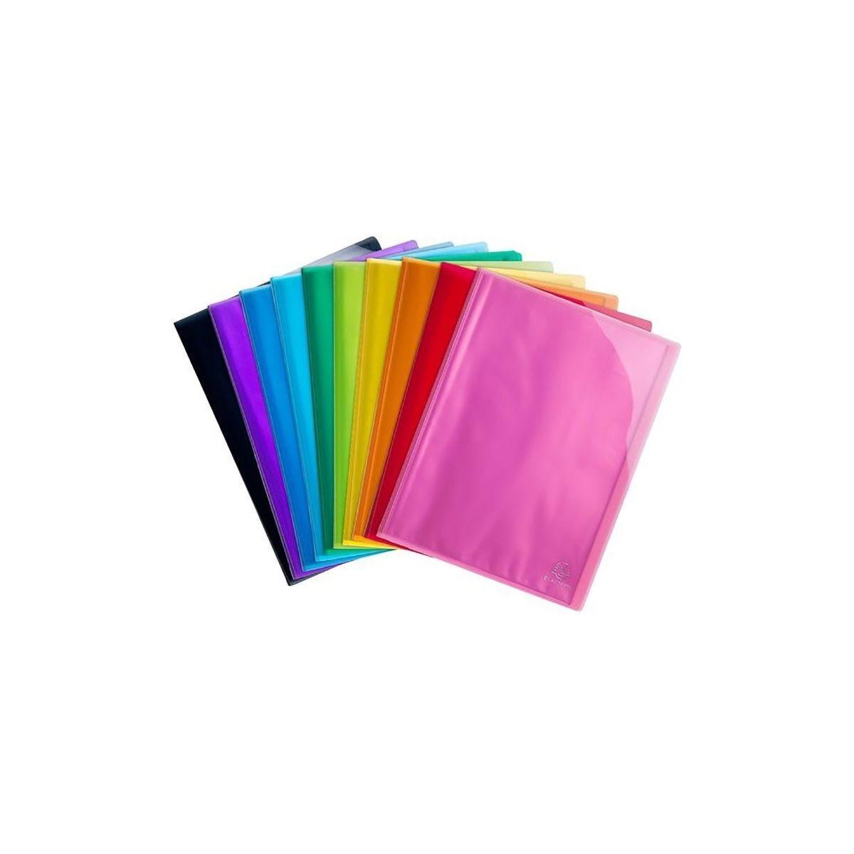 Iderama Polypropylene Display Book A4 20 Pocket Pack of 20 Assorted