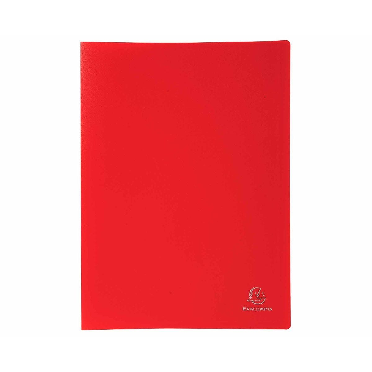 Exacompta A4 Display Book 100 Pockets Pack of 8 Red