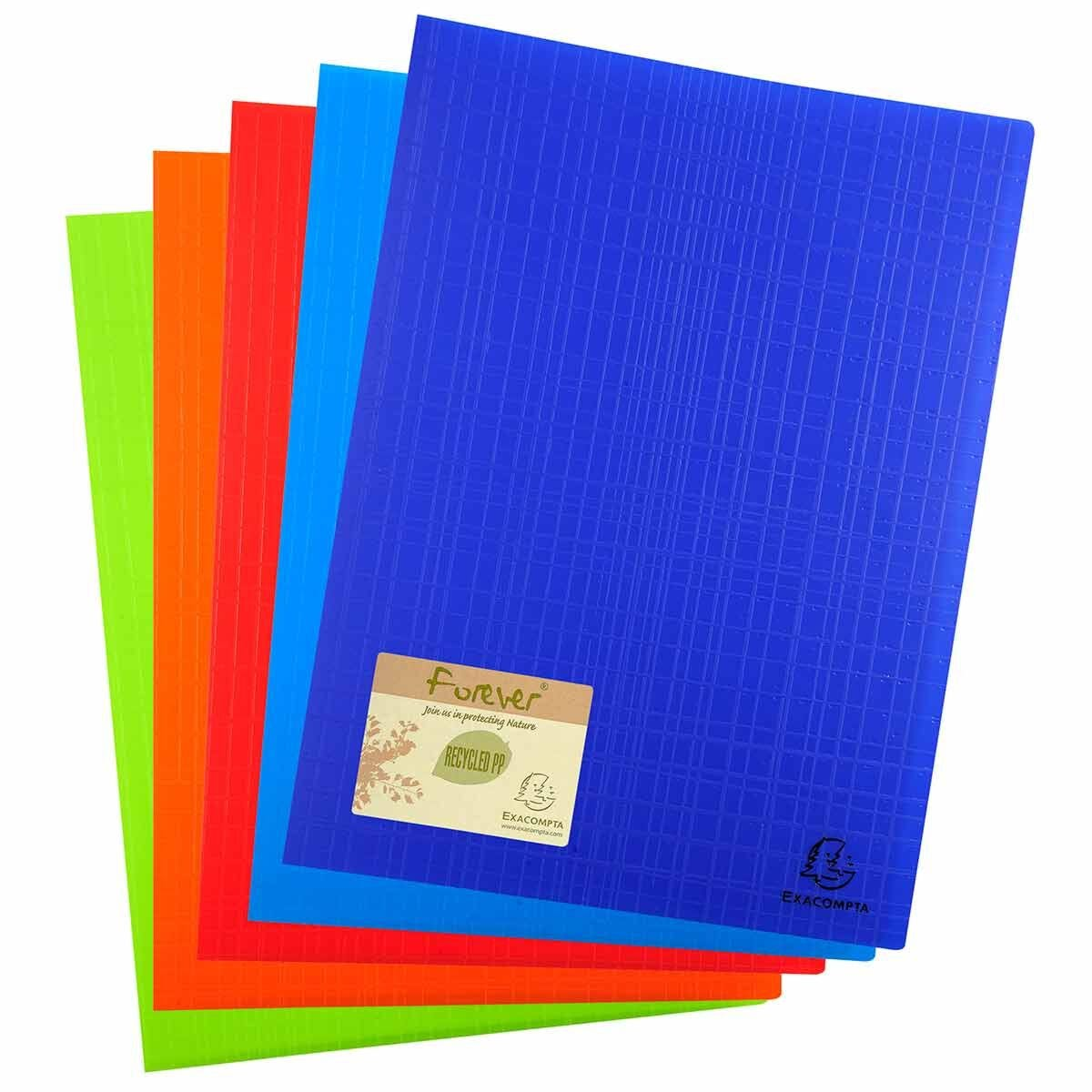 Exacompta Forever Display Book A4 40 Pockets Pack of 12 Assorted