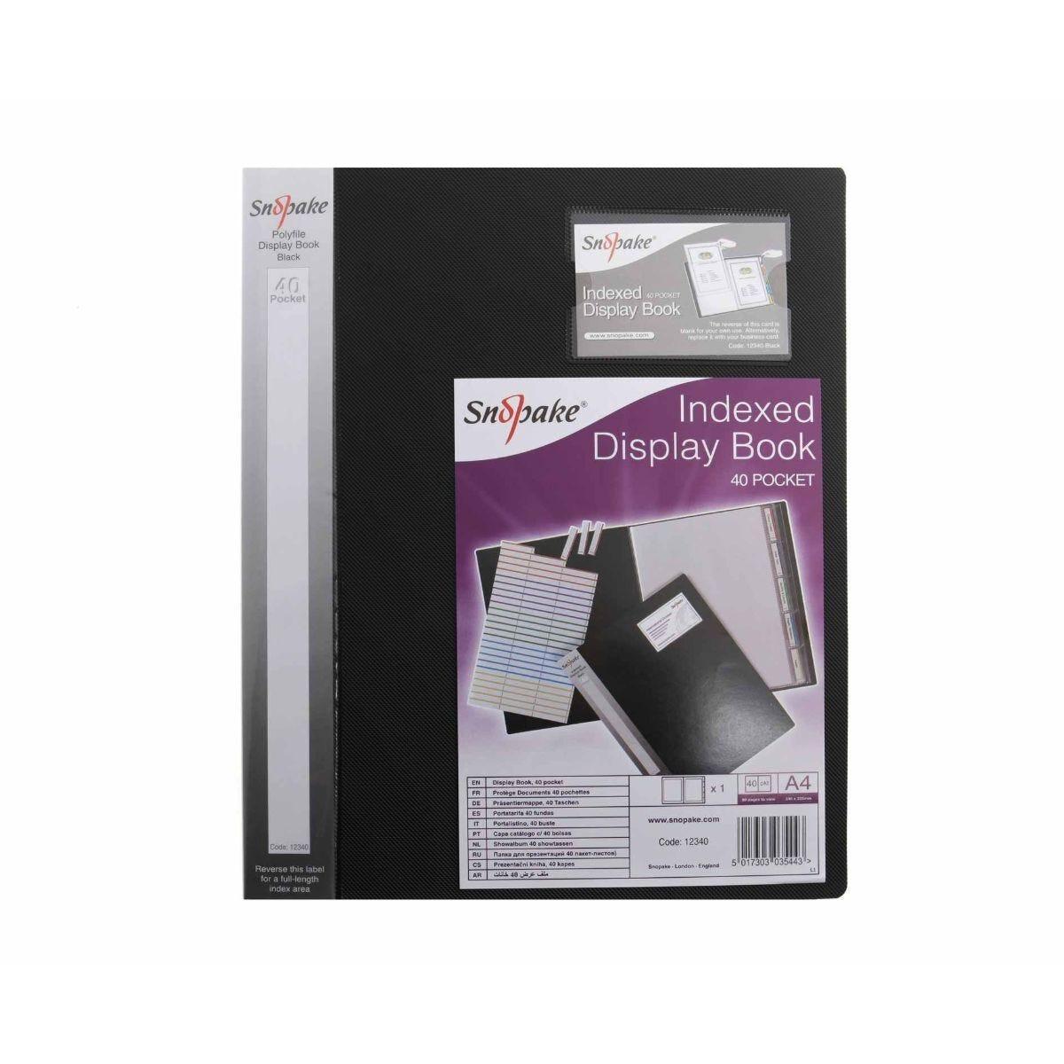 Snopake Index Display Book A4 40 Pockets