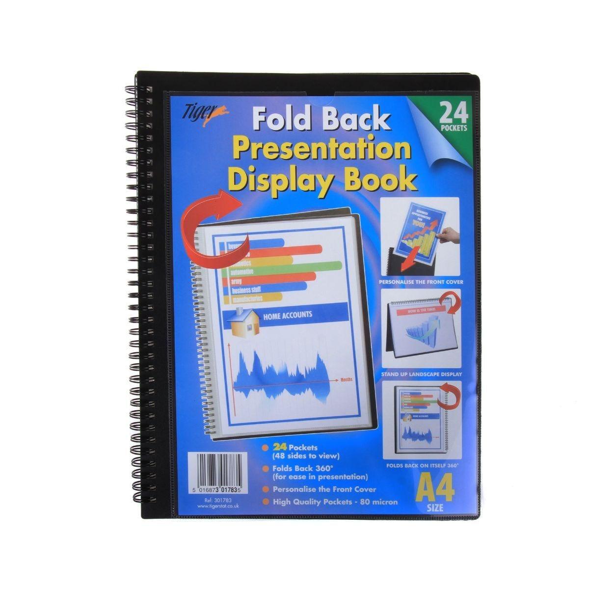 Tiger Presentation Display Book 24 Pocket
