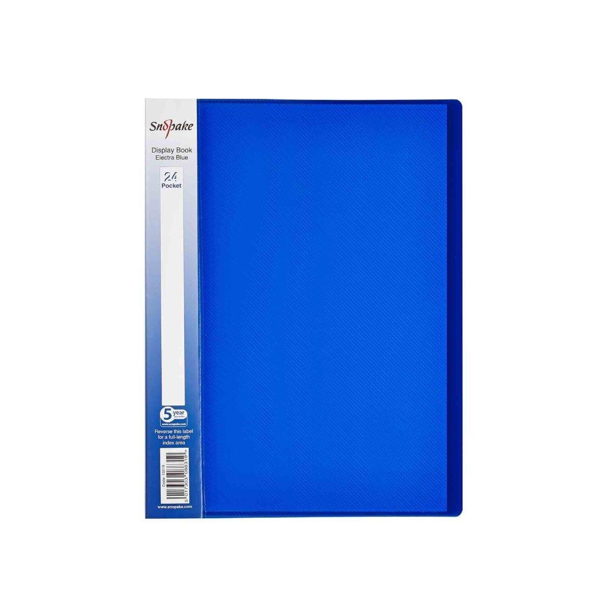 Snopake Polyfile Display Book A4 24 Pocket Pack of 5 Blue
