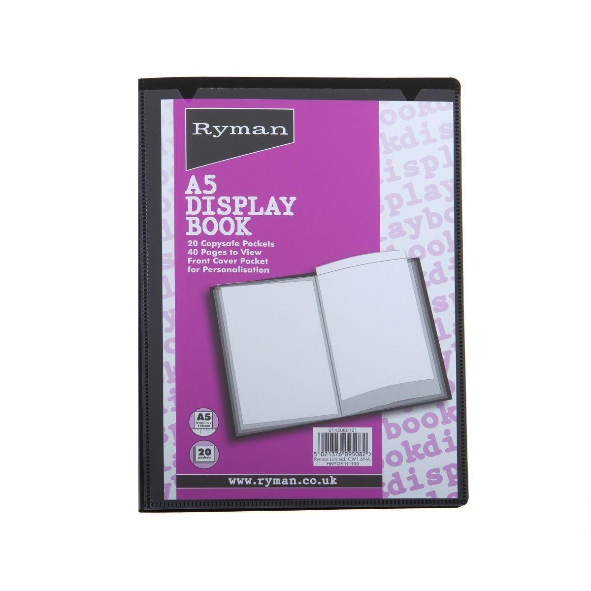 Ryman Presentation Display A5 Pack of 24 Black