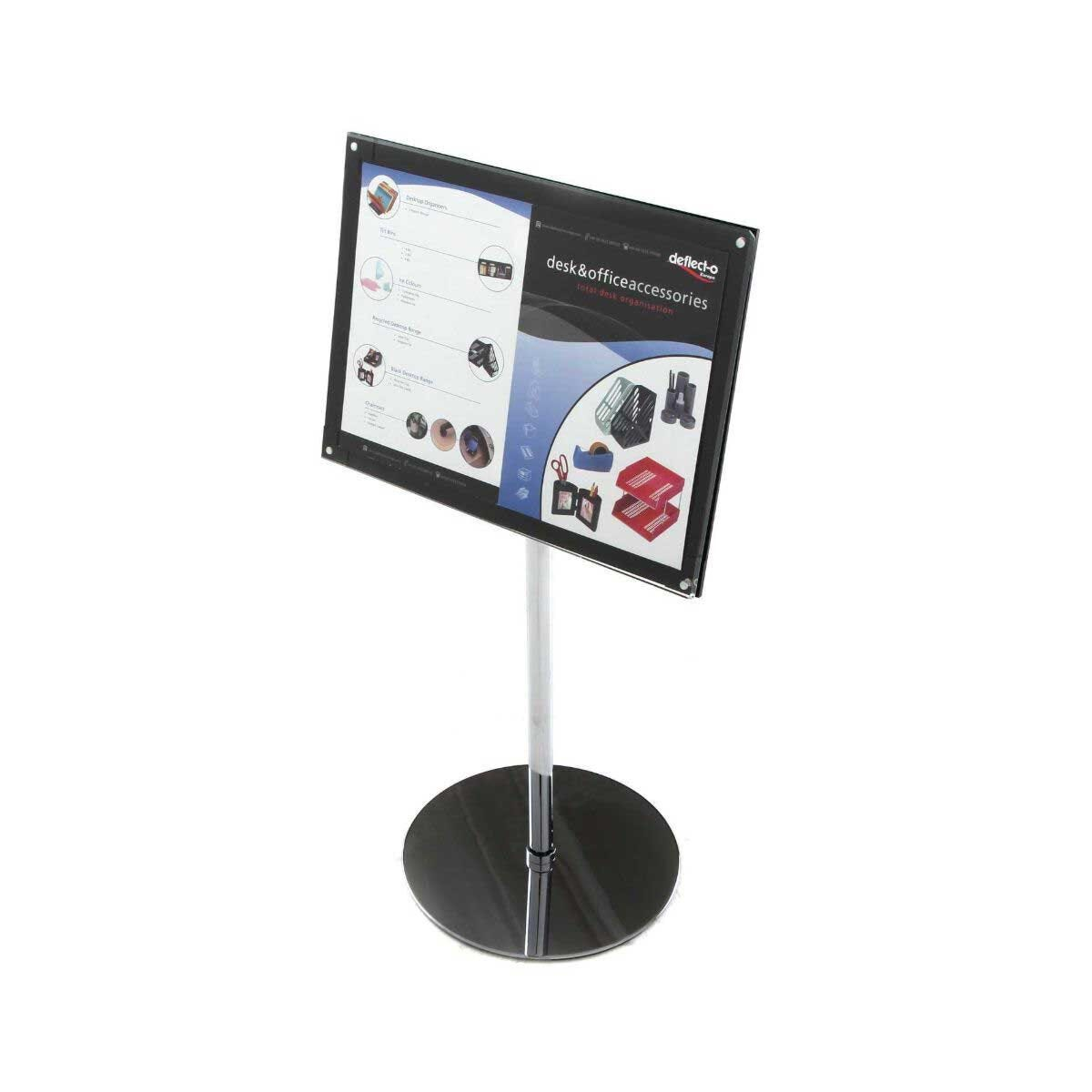 Deflecto Bevelled Edge Floor Stand Display