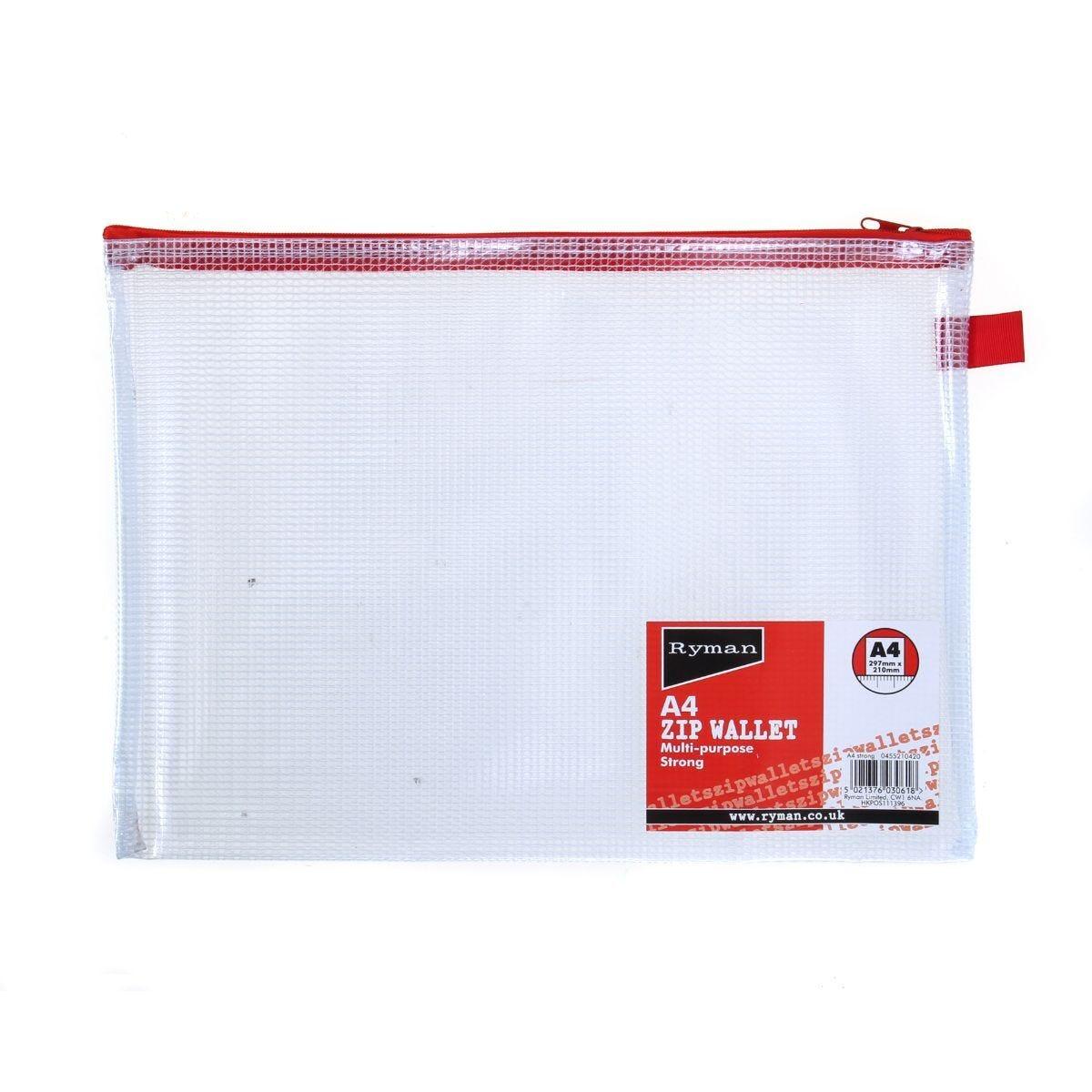 Ryman Tuff Zip Bag A4