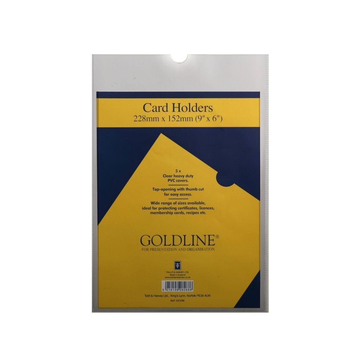 Goldline Card Holders 228x152mm