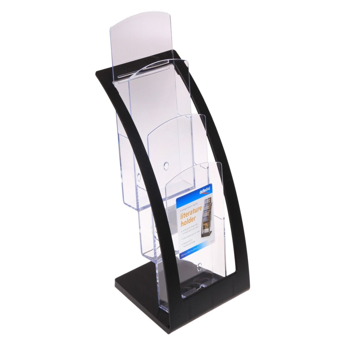 Deflecto Contemporary Leaflet Counter Top Literature Holder