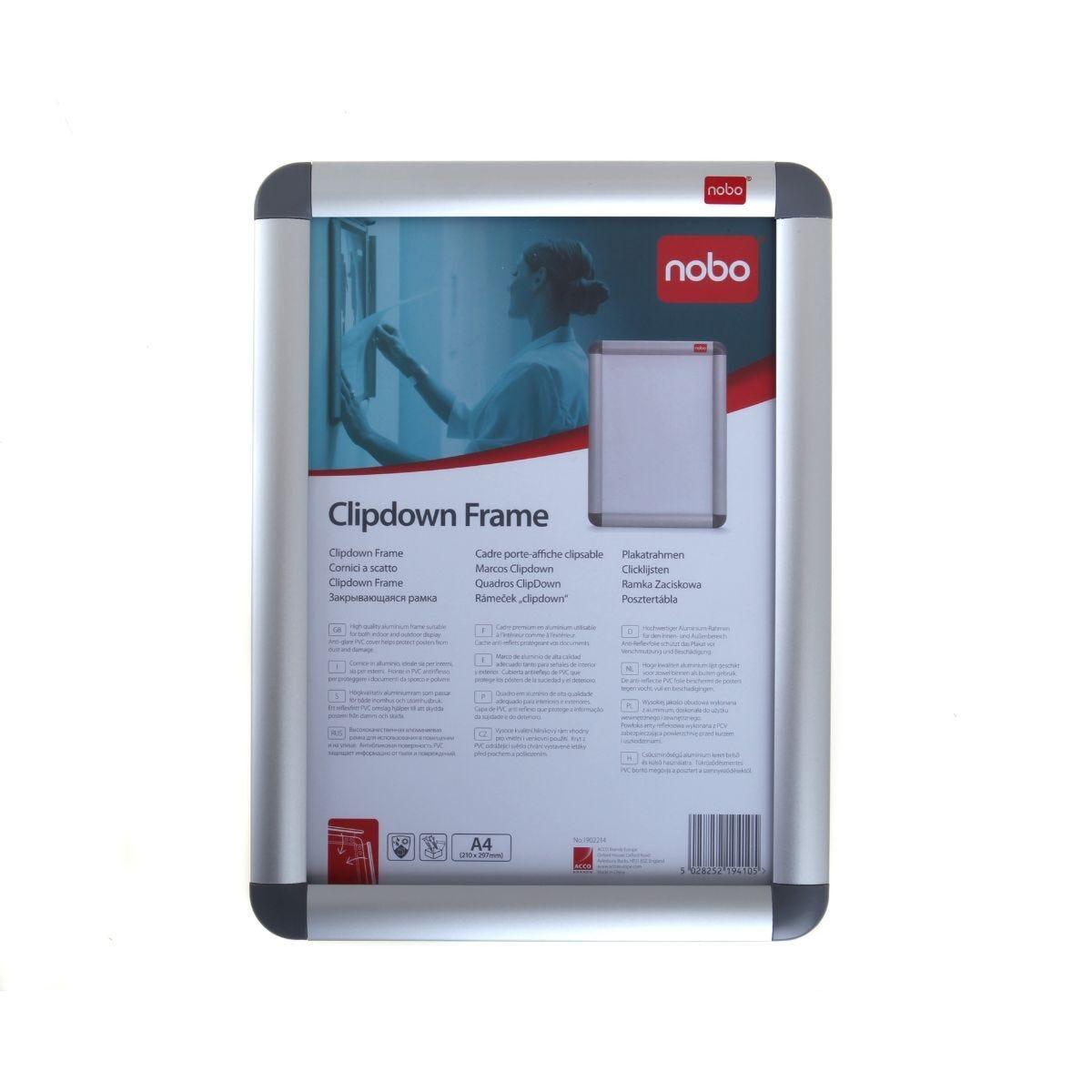 Nobo Aluminium Clip Frame A4