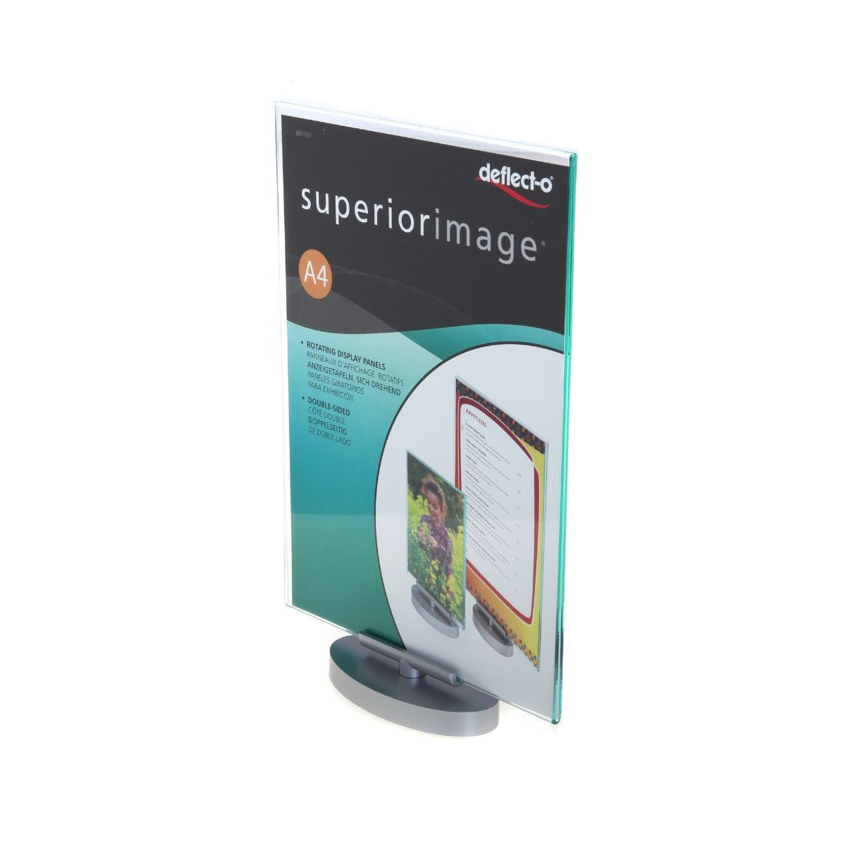 Deflecto Superior Image Sign Holder Swivel A4 Portrait