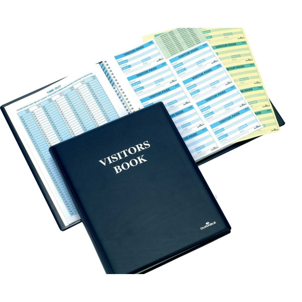 Durable Visitor Book 100 Easy to Complete Badge Inserts