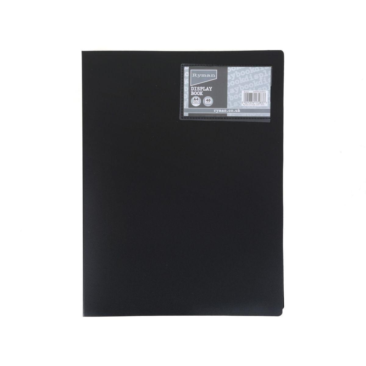 Ryman Display Book A4 40 Pocket Black