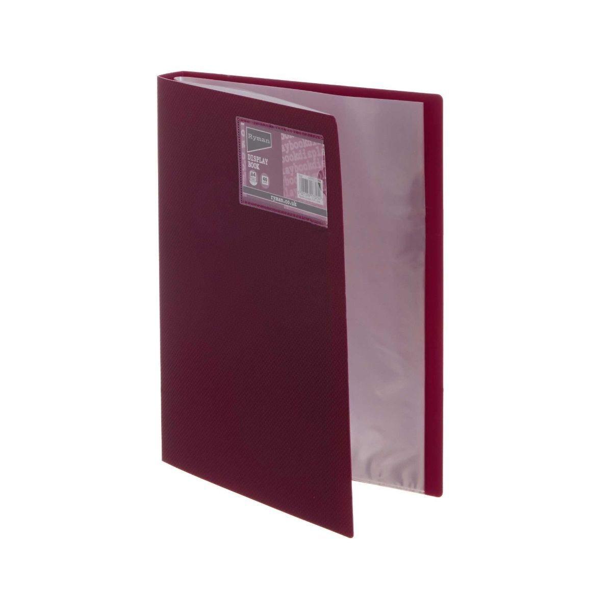 Ryman Display Book A4 40 Pocket Red