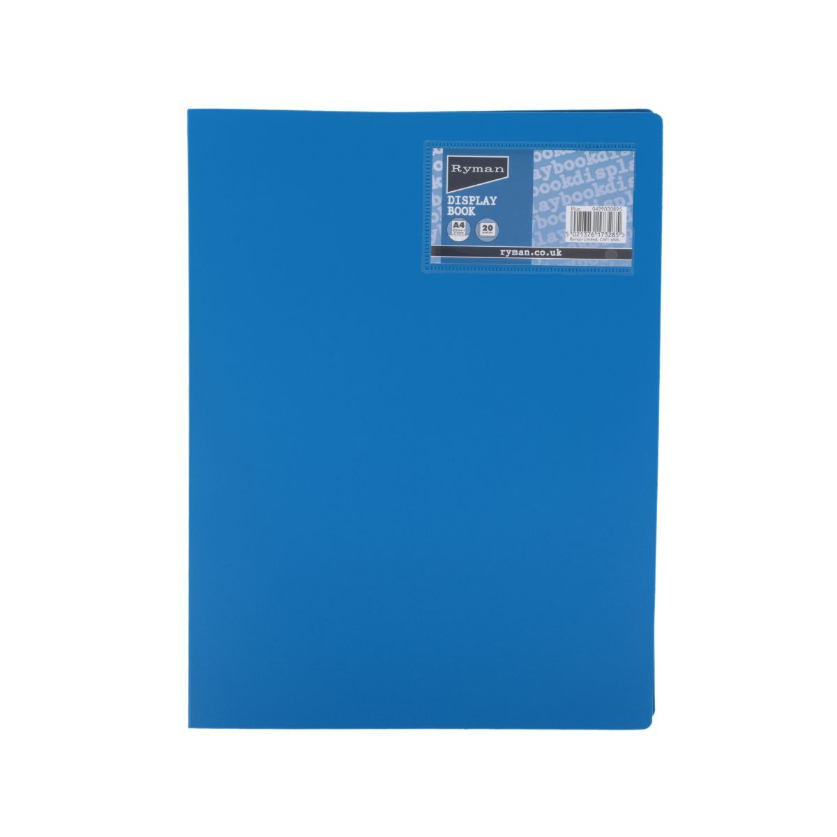 Ryman Display Book A4 20 Pocket Blue