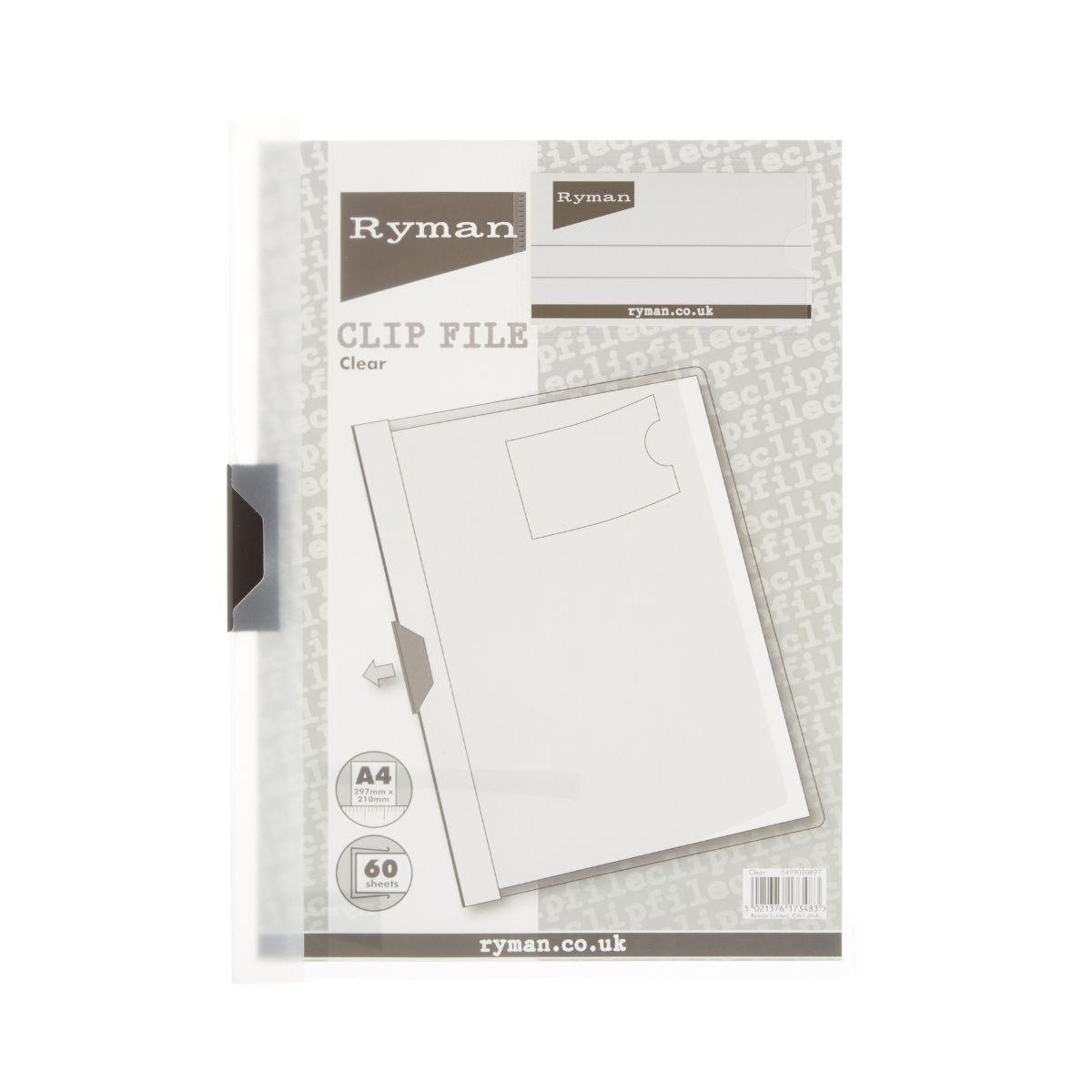 Ryman Clip File A4 60 Sheet