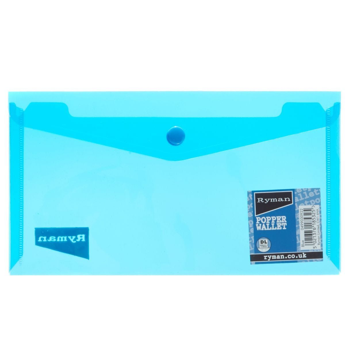 Ryman Popper File DL Landscape Blue