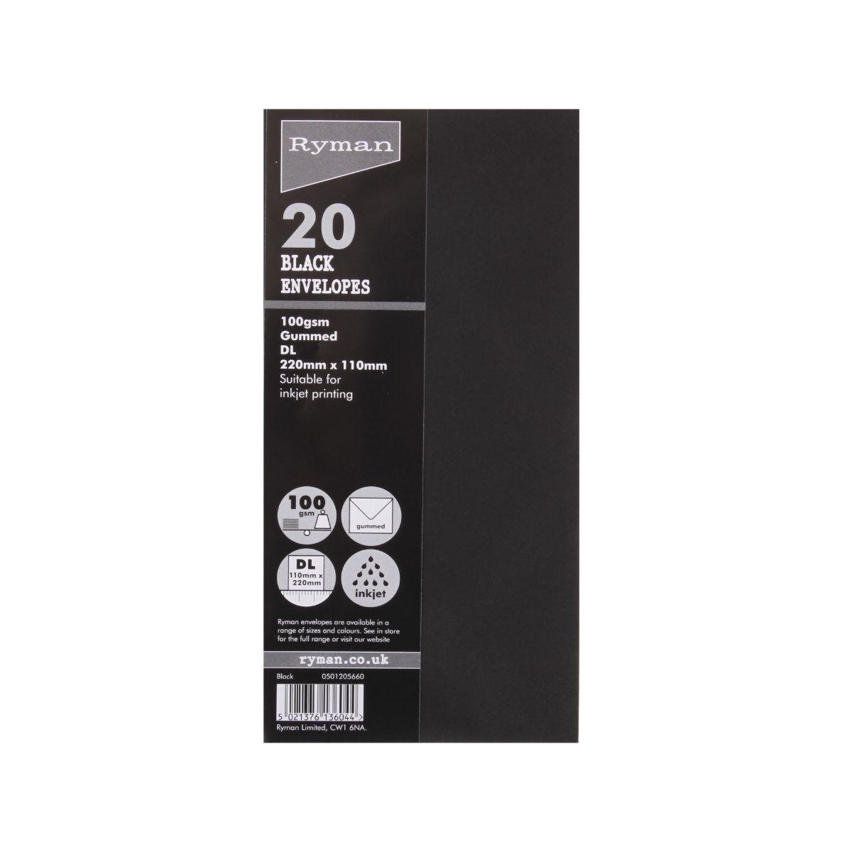Ryman Envelopes 110x220mm 100gsm Pack of 20