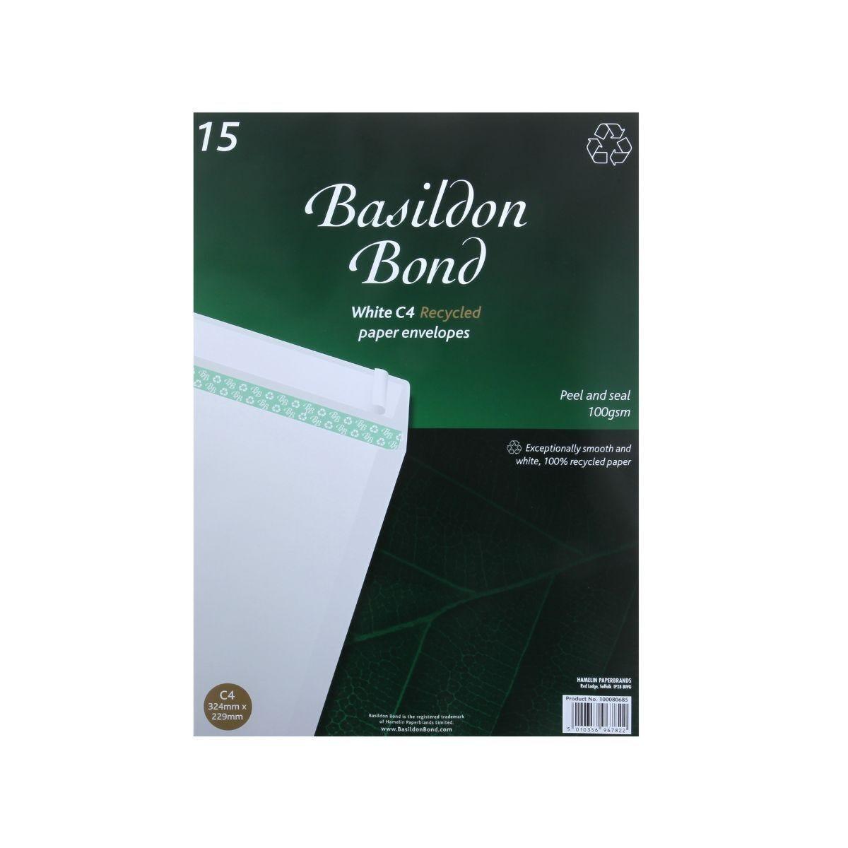 Basildon Bond Envelopes C4 Pack of 15