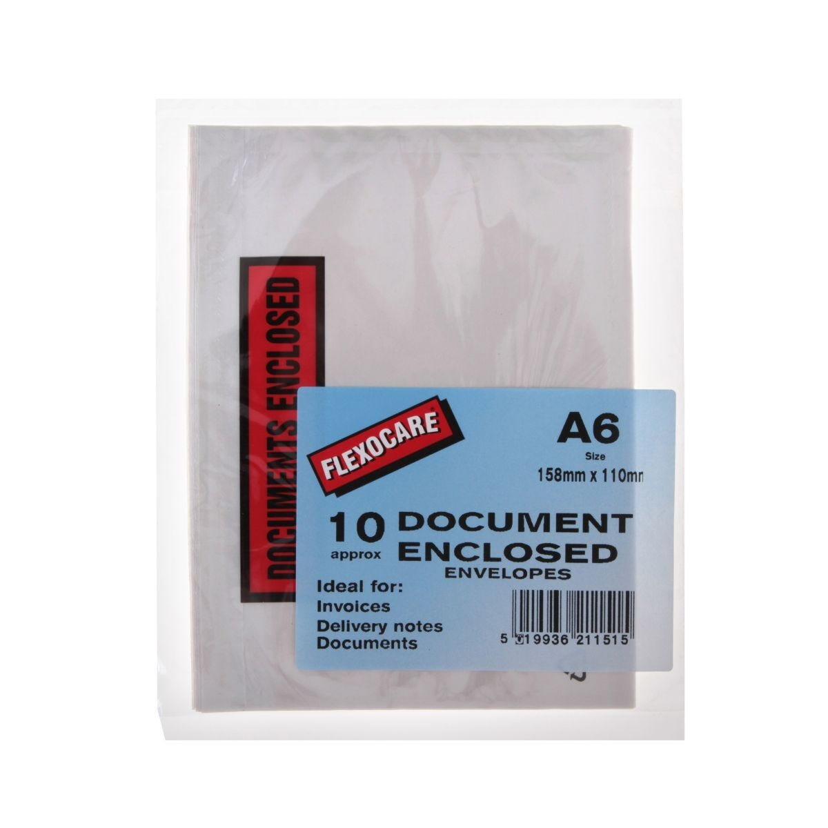 Document Enclosed Envelopes A6 Pack of 10