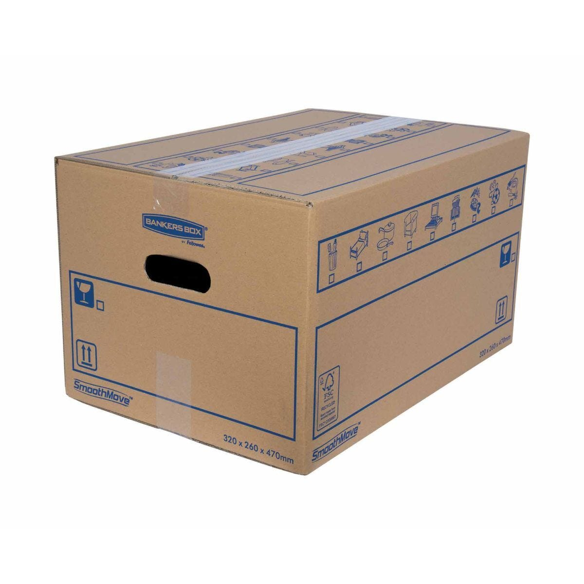 Bankers Box by Fellowes SmoothMove Standard Box Small Pack of 10