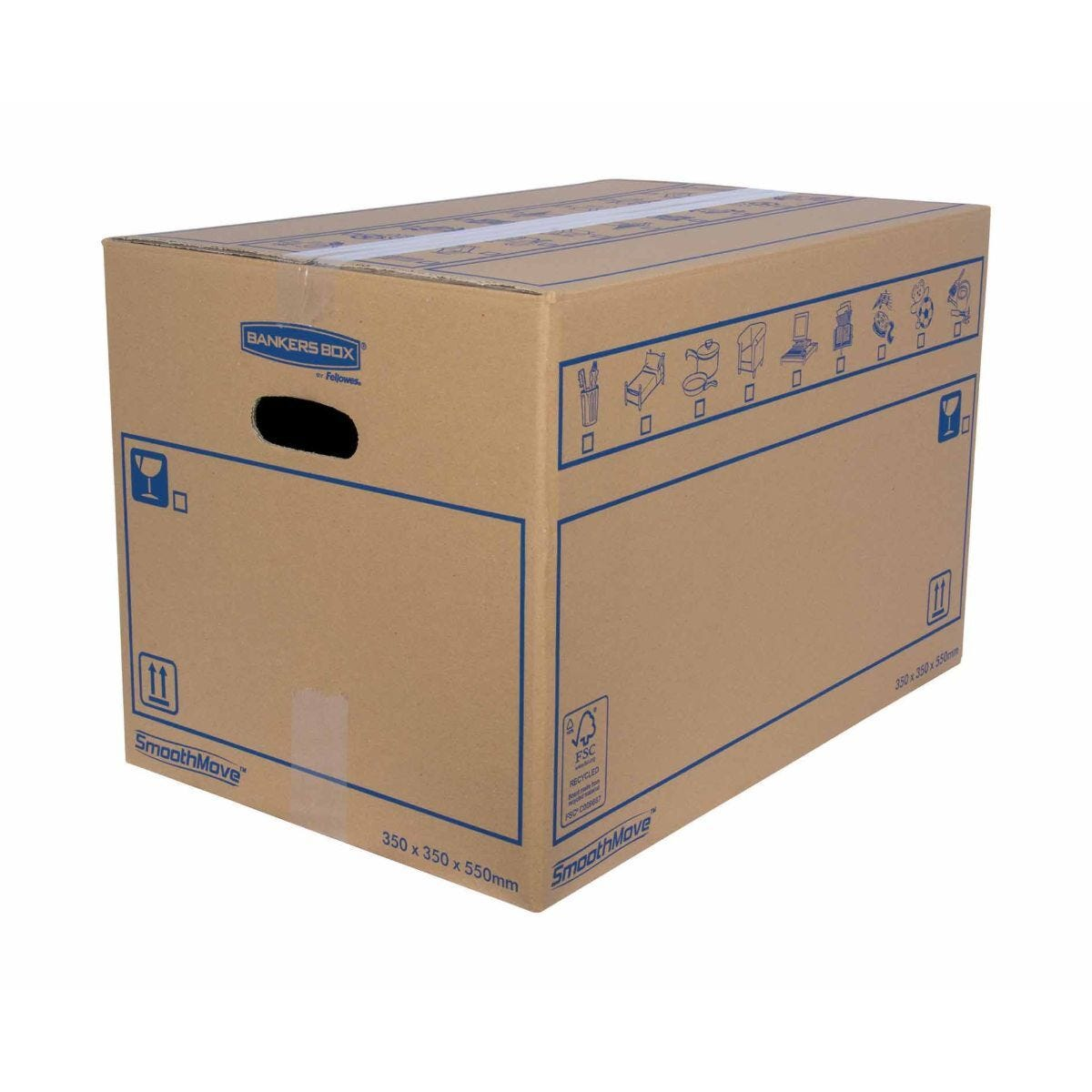 Bankers Box by Fellowes SmoothMove Standard Box Medium Pack of 10