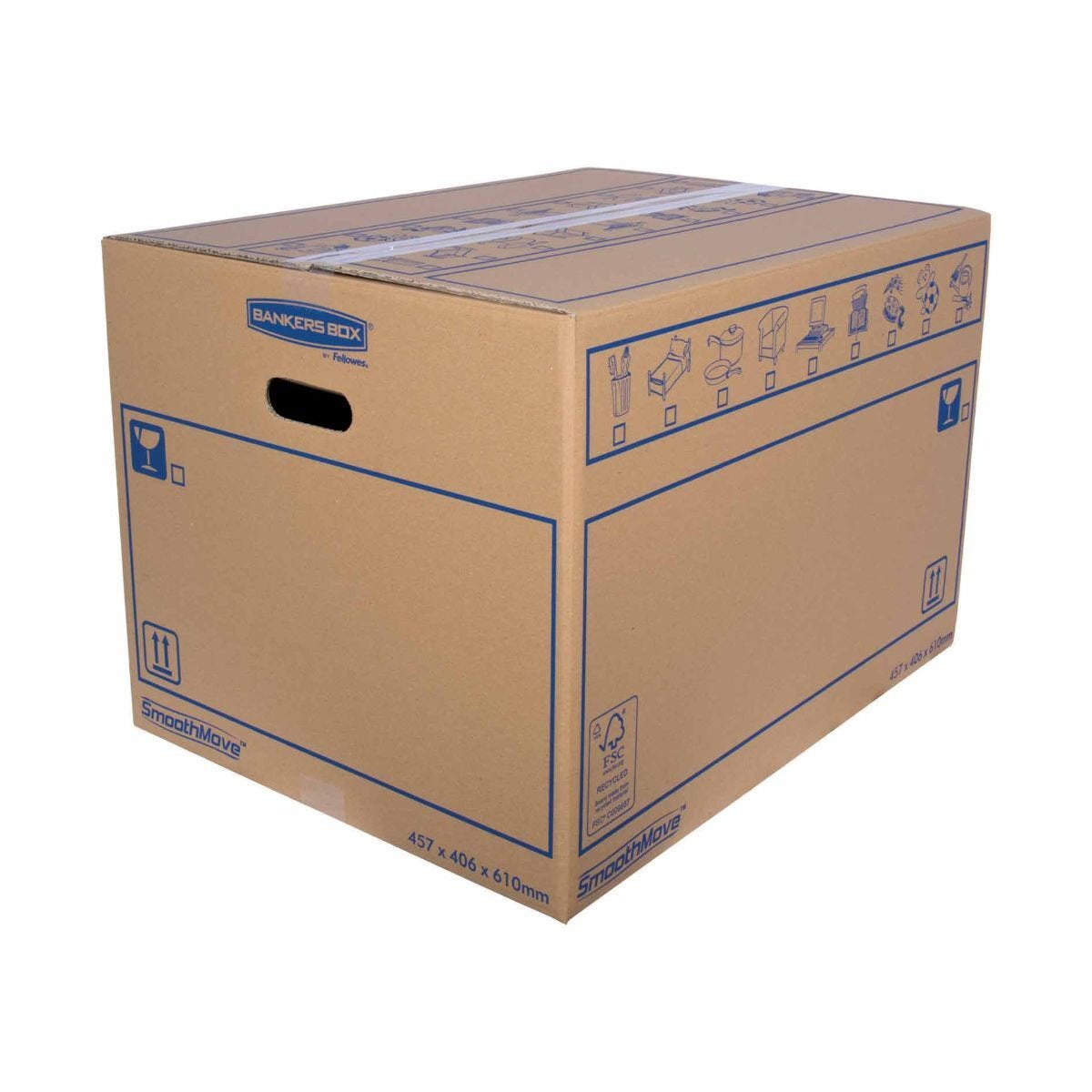 Bankers Box by Fellowes SmoothMove Standard Box Large Pack of 10