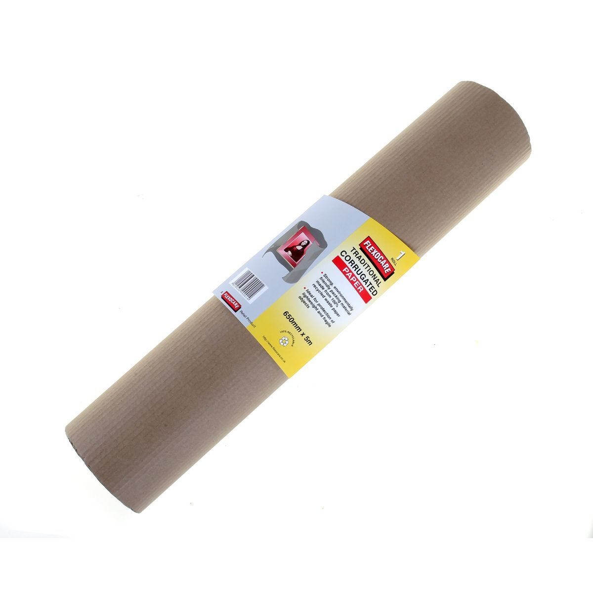 Flexocare Corrugated Paper Roll 650mmx5m