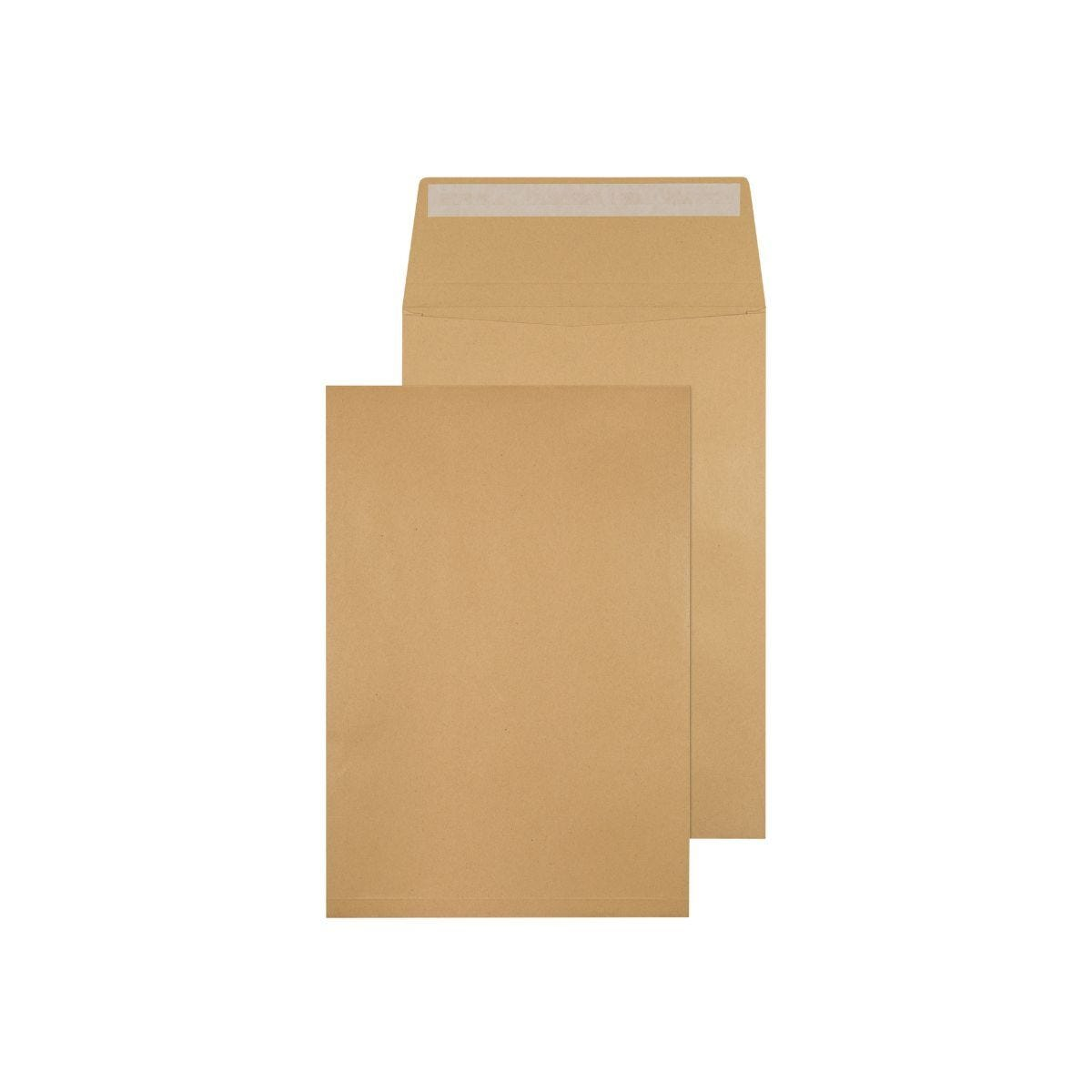 Q-Connect Gusset Envelope C4 324x229x25mm 120gsm Peel and Seal Pack of 100