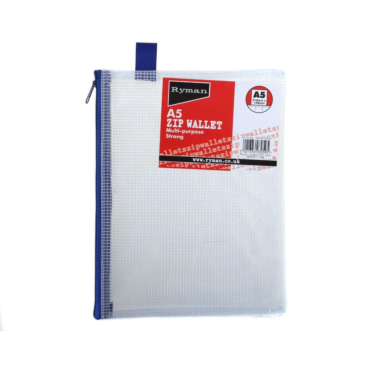 Ryman Zip Bag Heavy Duty A5 Pack of 5