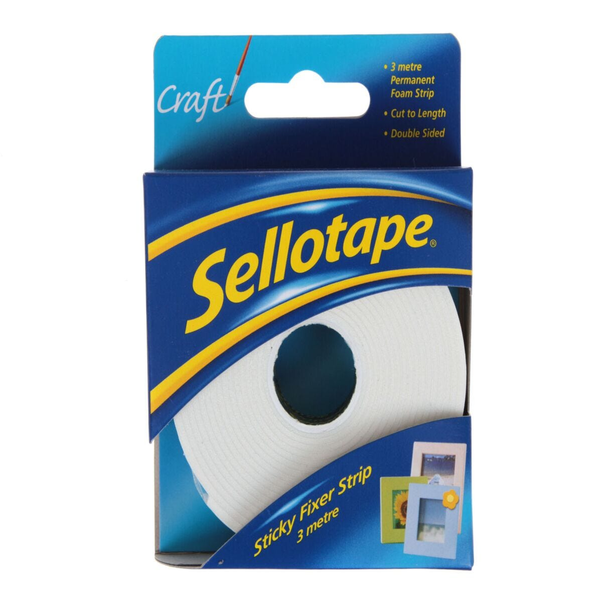 Sellotape Sticky Fixers 25mm x 3m Strip