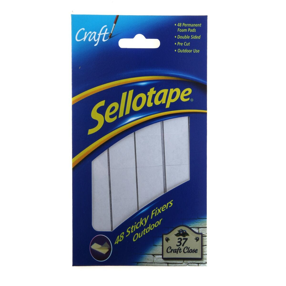 Sellotape Sticky Fixers 20x20mm Outdoor