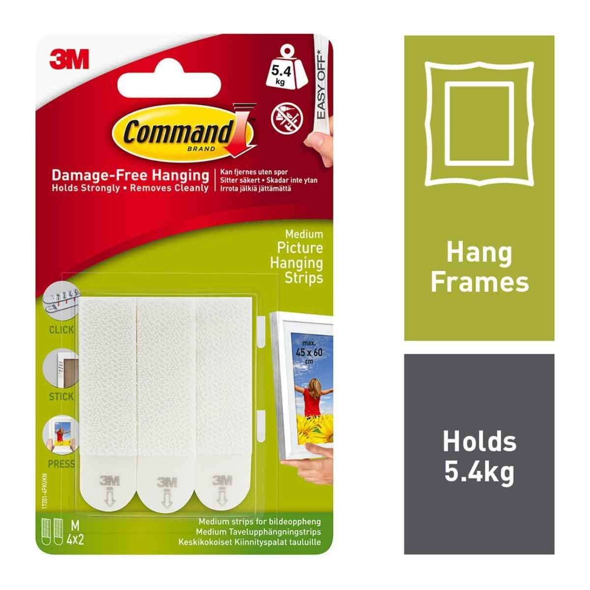 3M Command Picture Hanging Strips Pack of 4