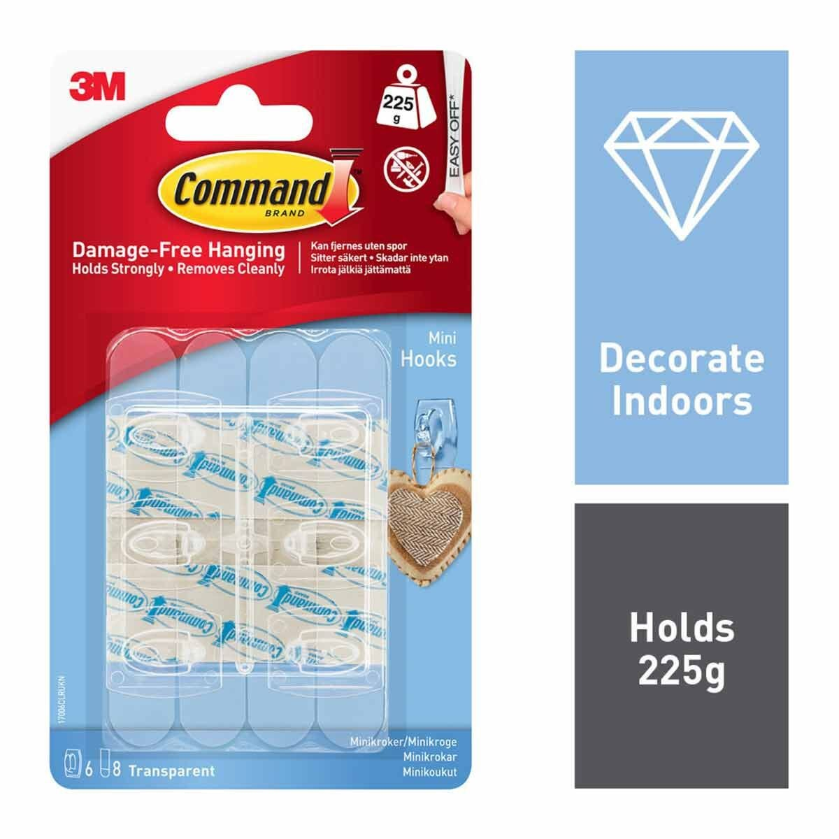 3M Command Clear Decorating Clips With Clear Strips