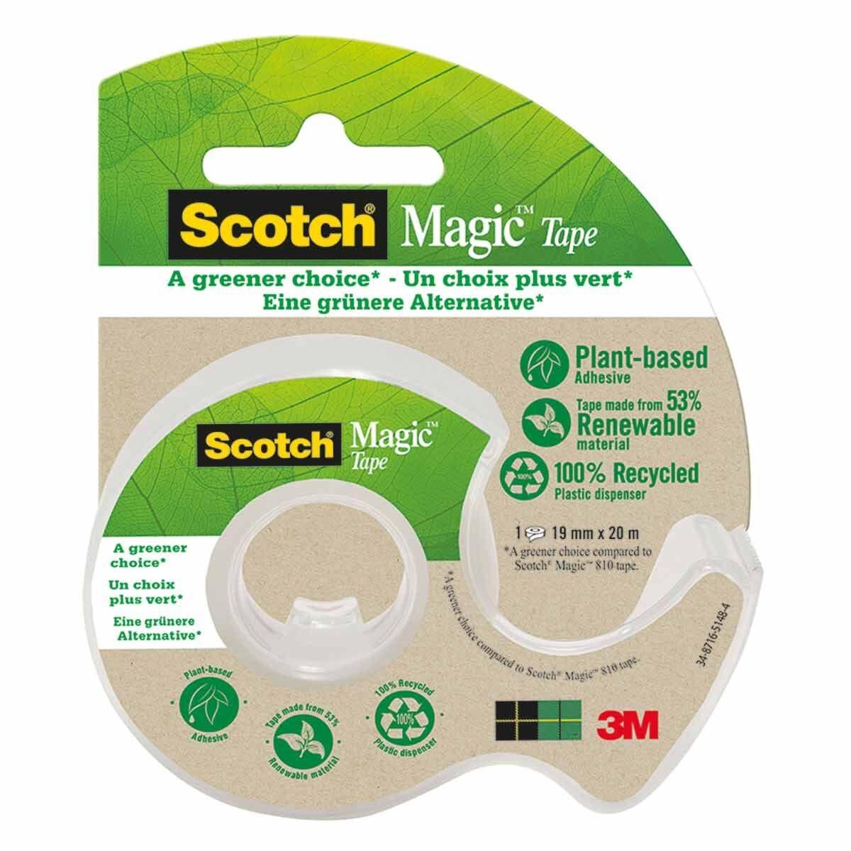 Scotch Magic Tape Greener Choice Dispenser 19mmx20m