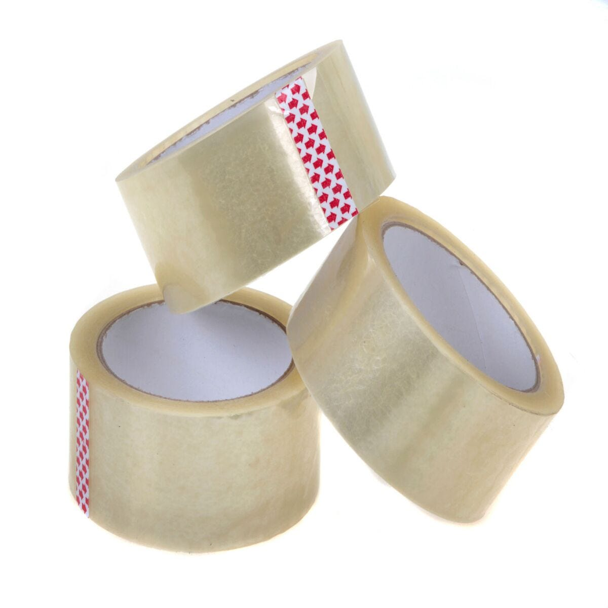 Clear Polyprop Packaging Tape 48mm x 66m Pack of 6