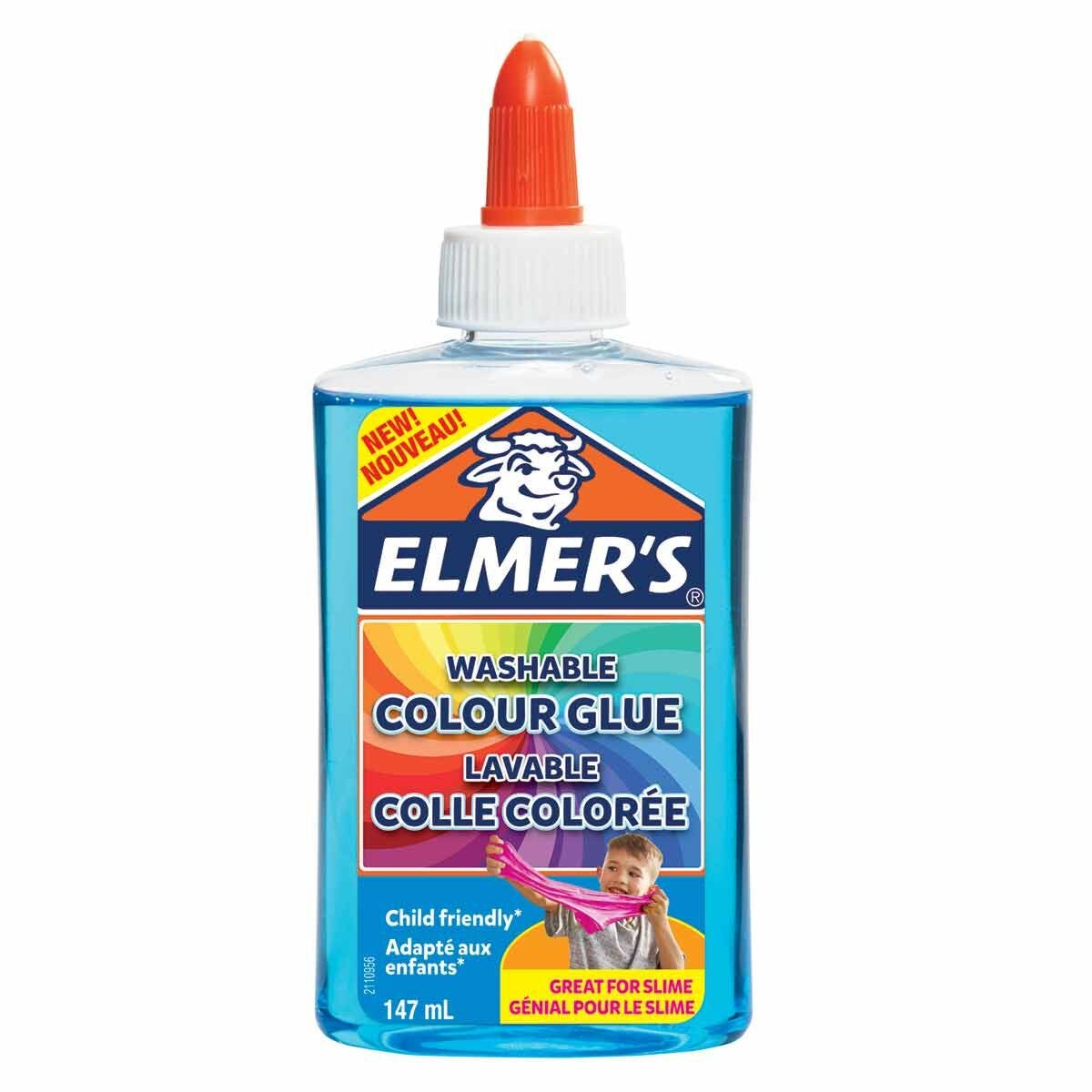 Elmers Washable Colour Glue 147ml Blue
