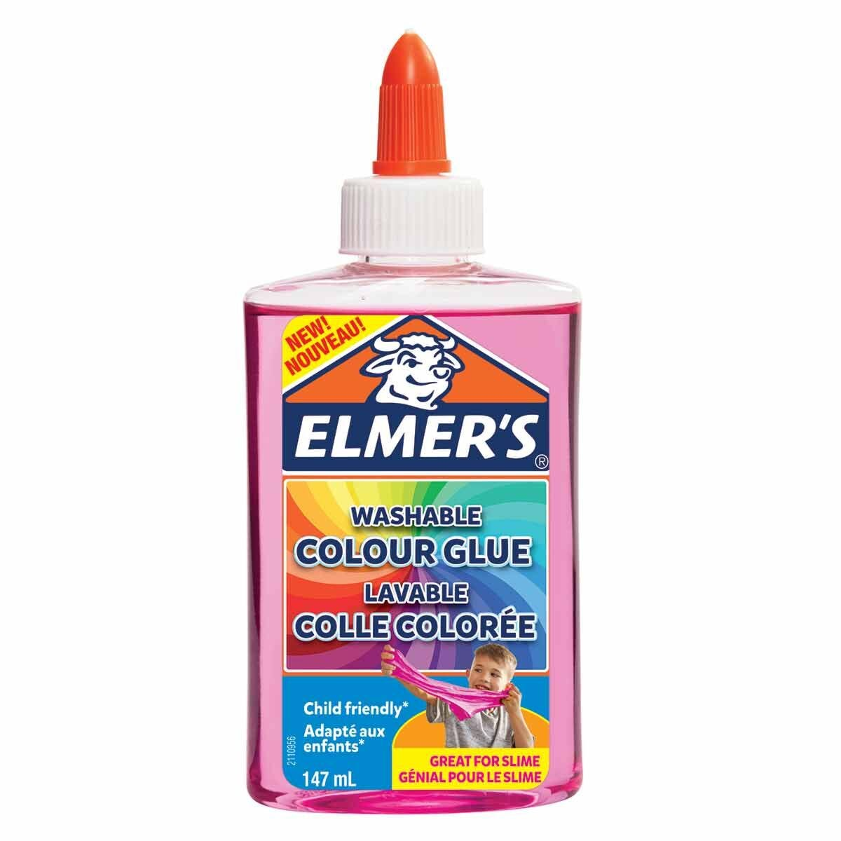 Elmers Washable Colour Glue 147ml Pink
