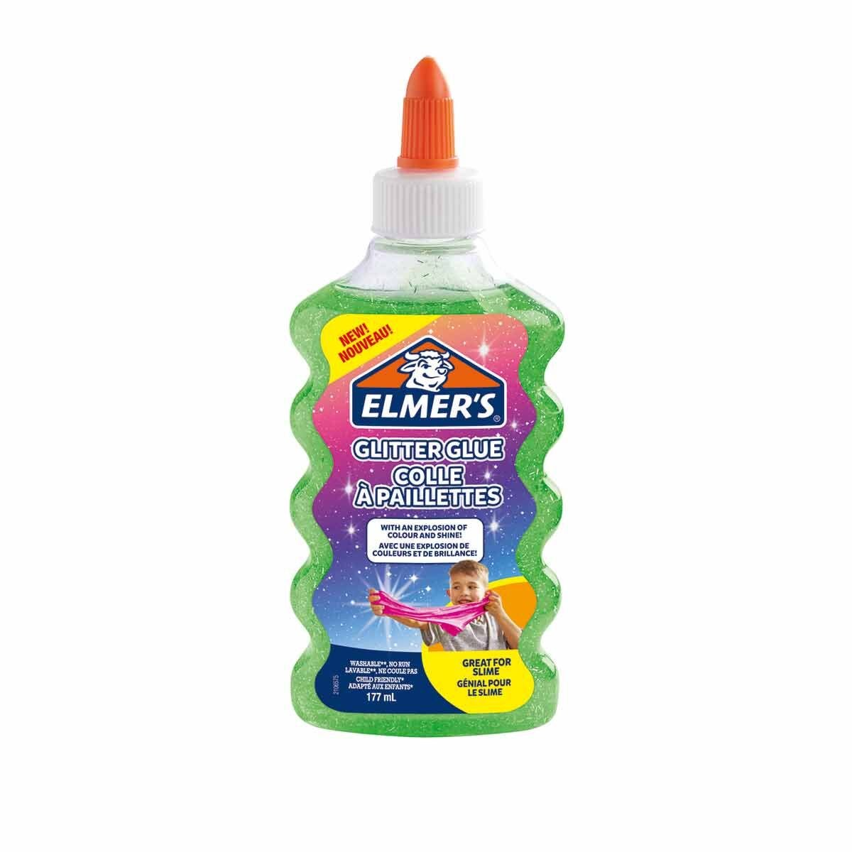 Elmers Glitter Glue 177ml Green