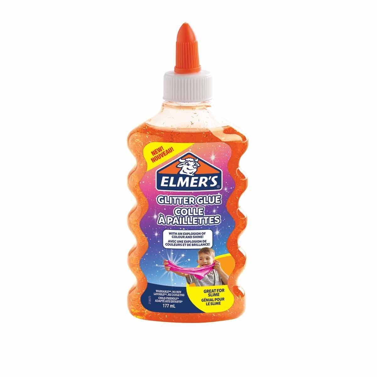 Elmers Glitter Glue 177ml Orange