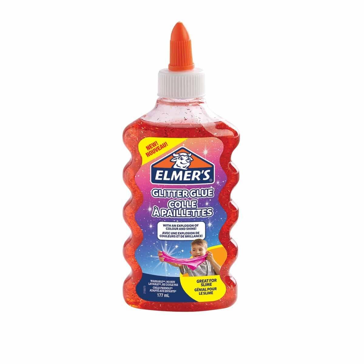 Elmers Glitter Glue 177ml Red