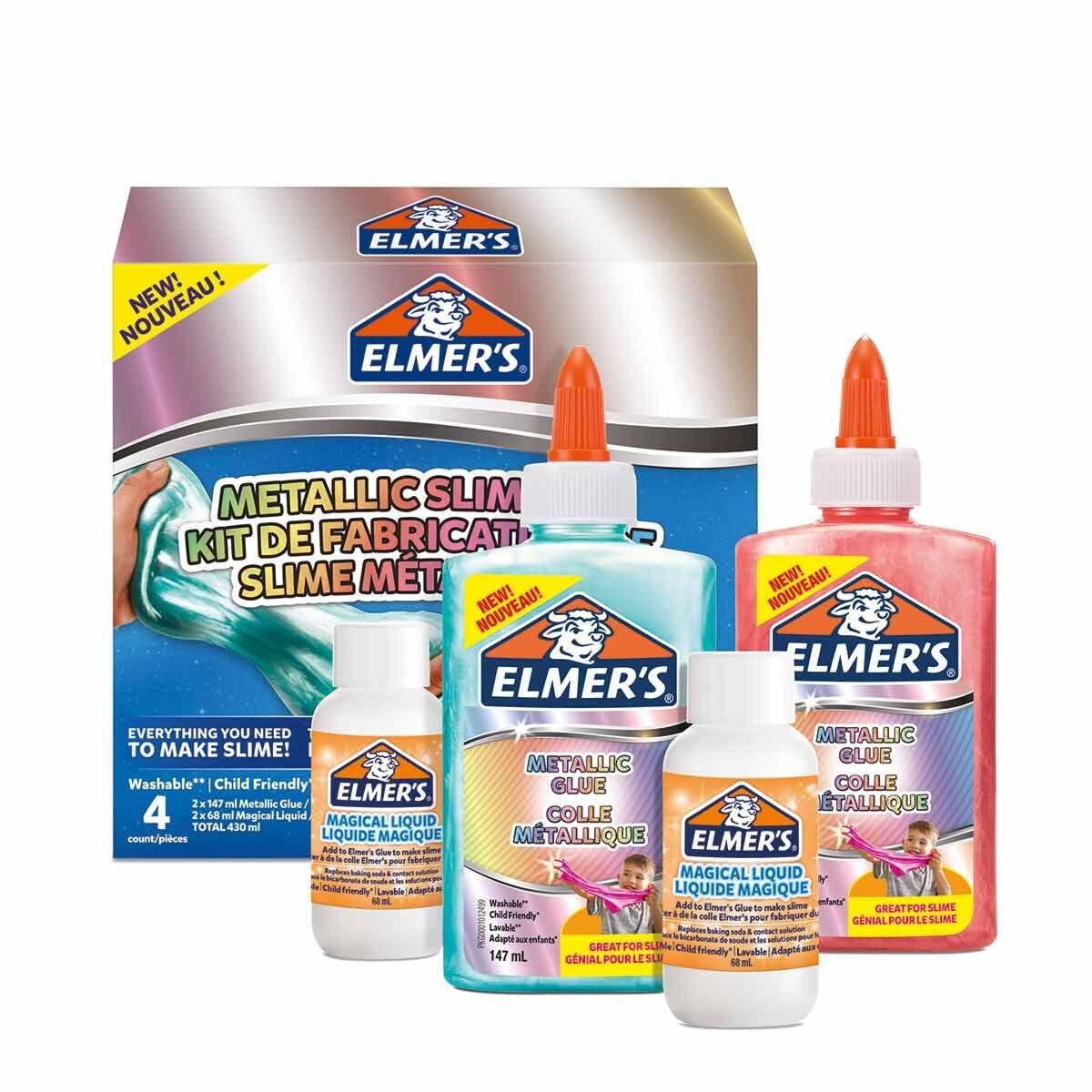 Elmers Metallic Slime Kit Assorted
