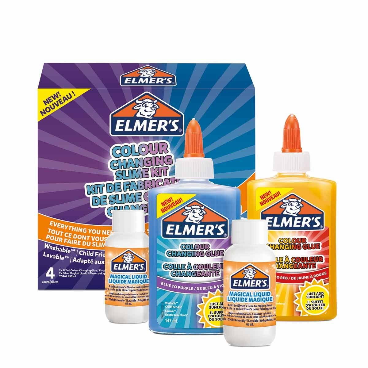 Elmers Colour Changing Slime Kit Assorted