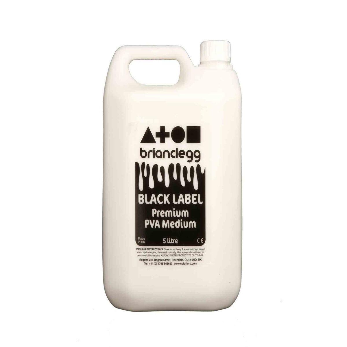 Black Label Premium PVA Medium Glue 5L Bottle