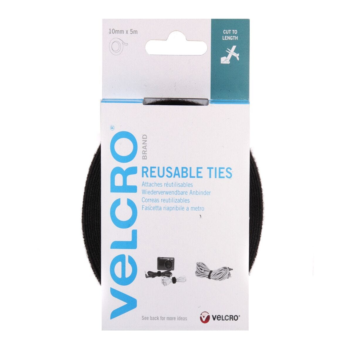 VELCRO Brand Cable Manager-Reusable Tape 10mm x 5m