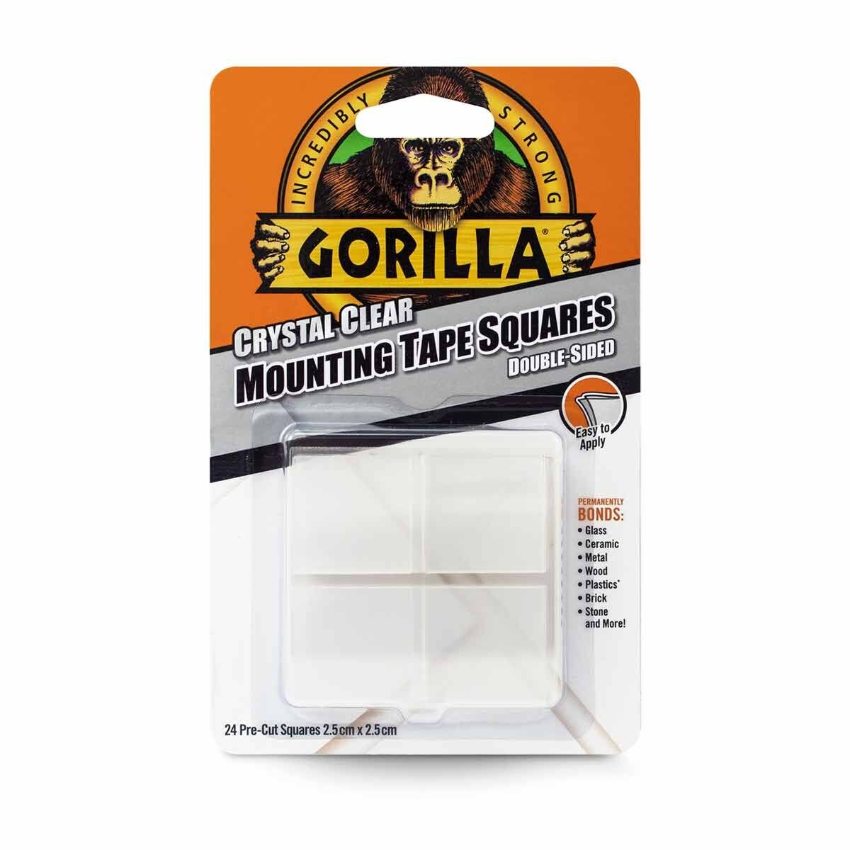 Gorilla Clear Mounting Tape Squares