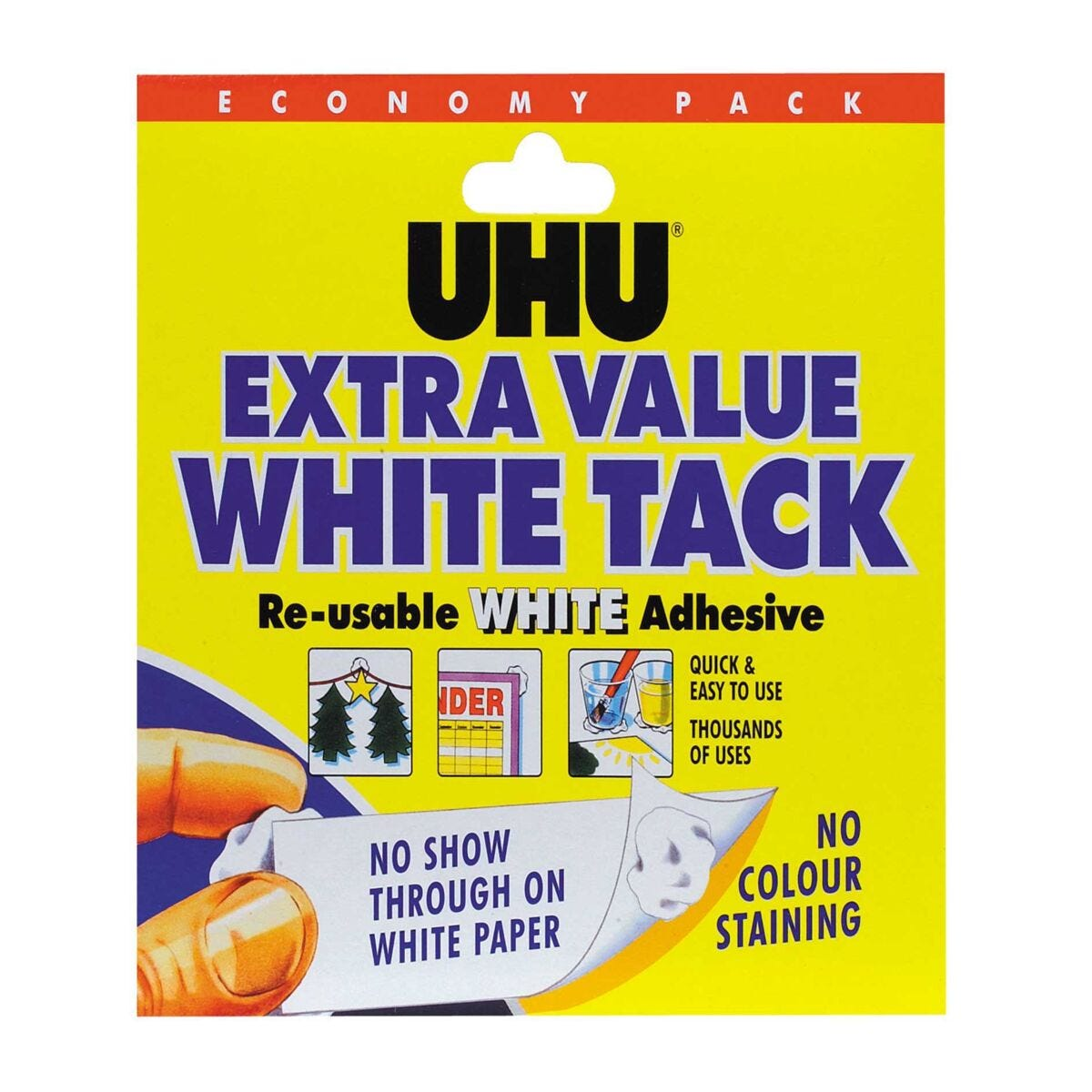 UHU White Tack Economy Re-usable Adhesive Pack of 6
