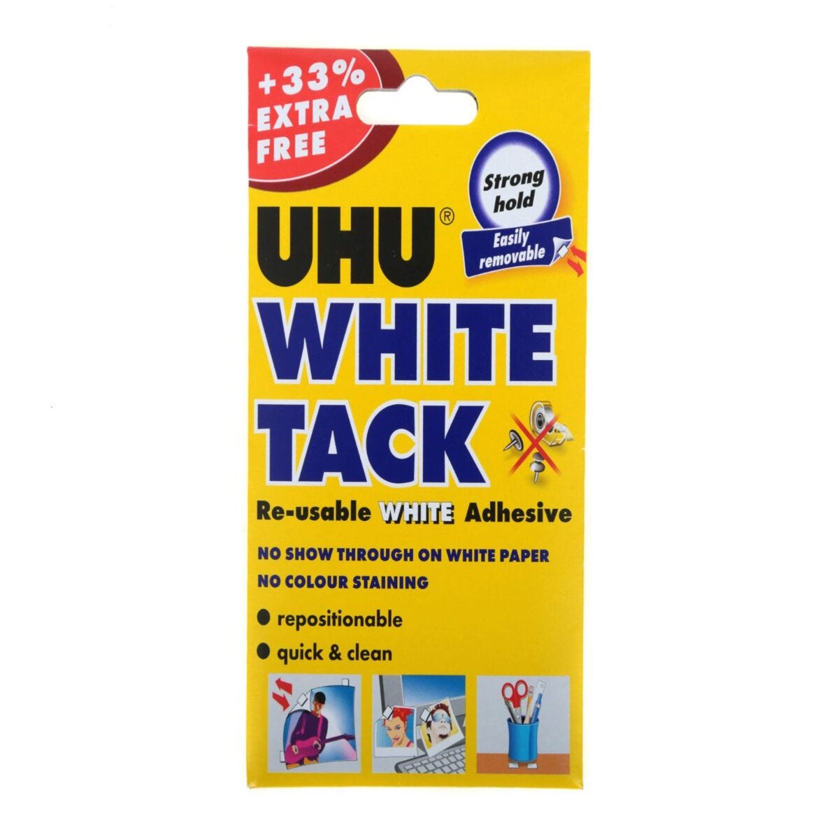 UHU White Tack Handy 33 Percent Extra Free