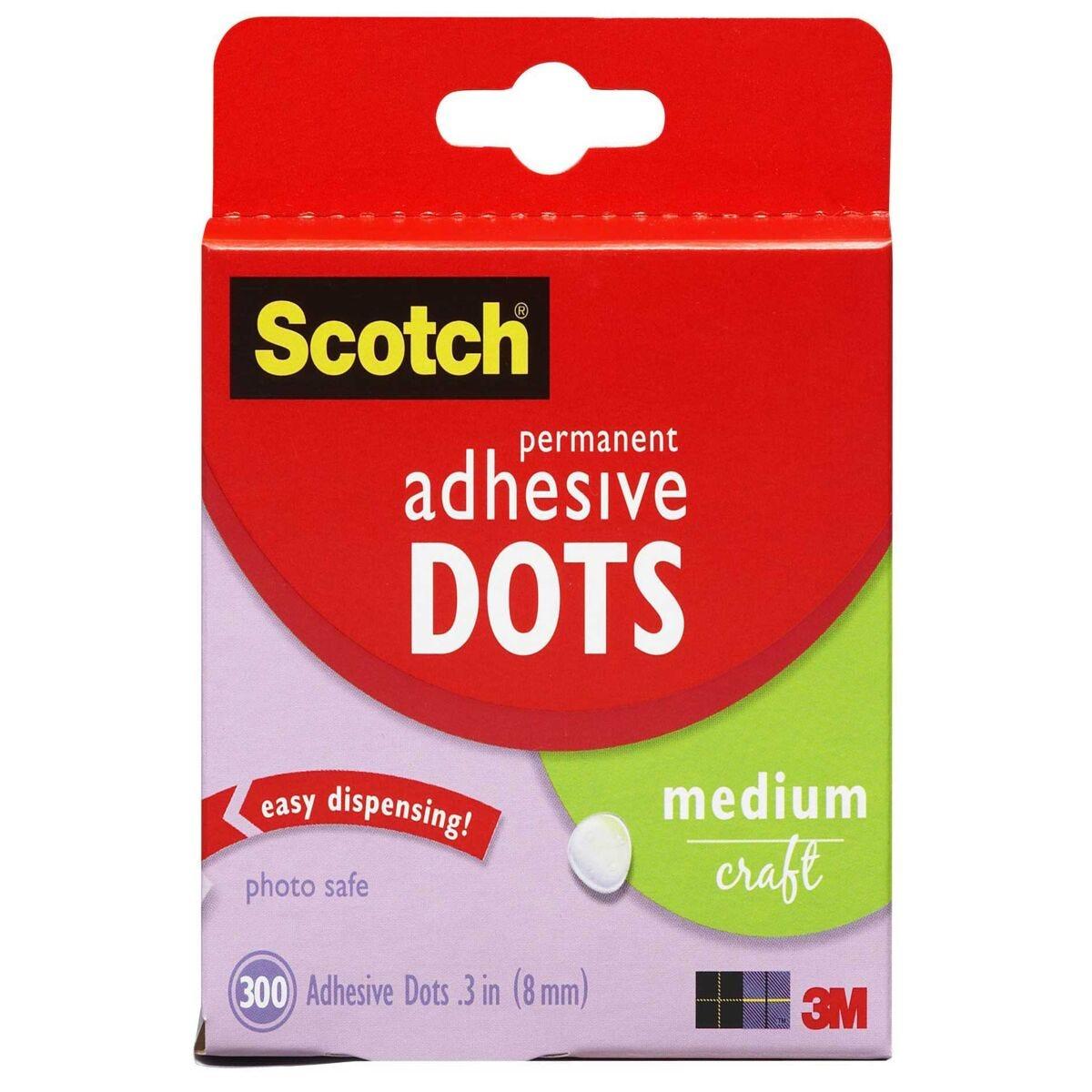 Scotch Adhesive Glue Dots 300 Per Pack (Permanent)