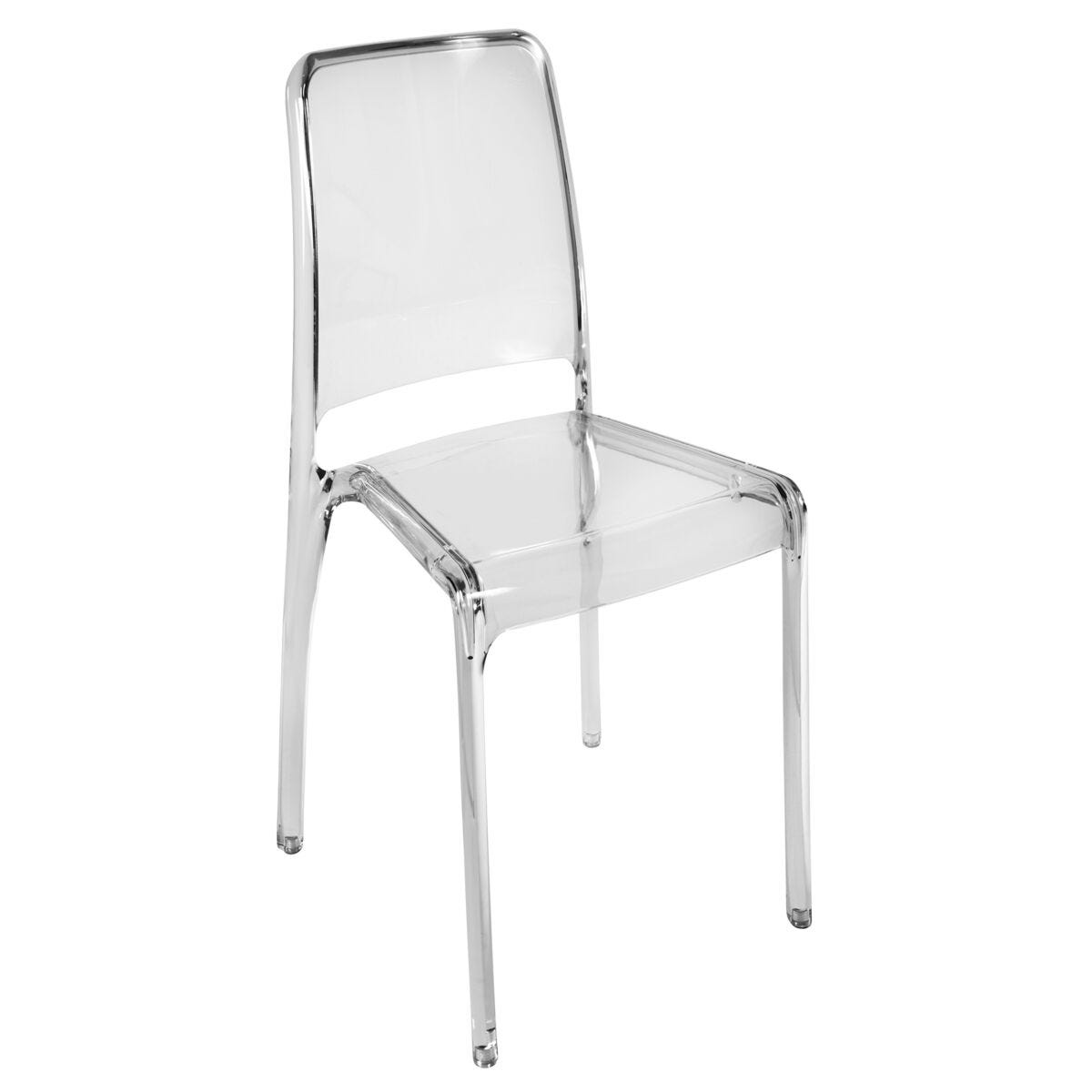 Teknik Office Clarity Breakout Chair Pack of 4 Clear