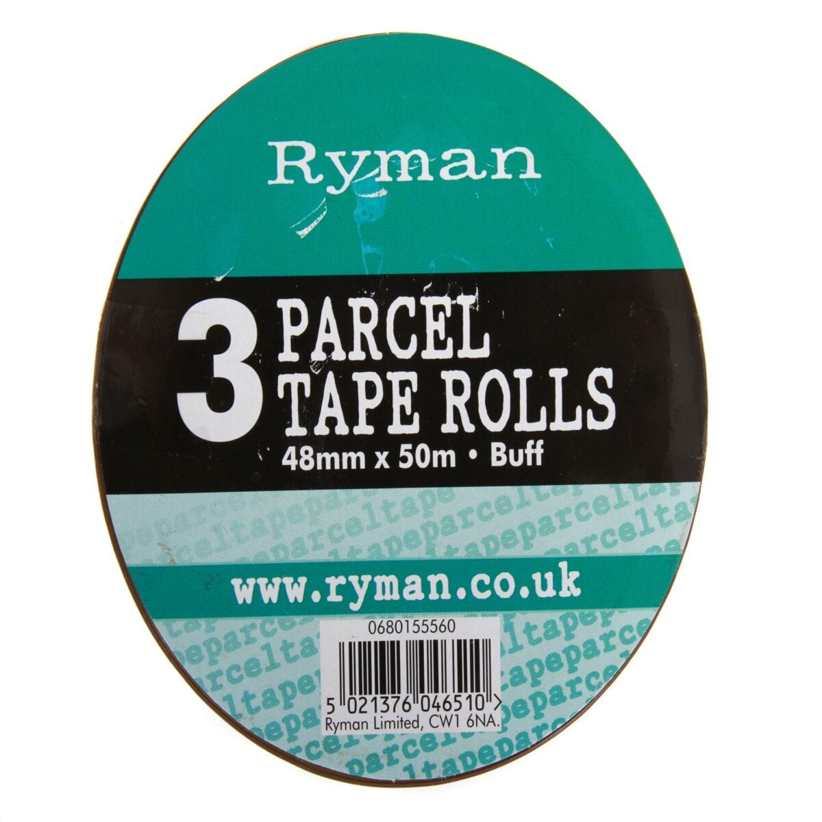 Ryman Parcel Tape 48mmx50m Pack of 3