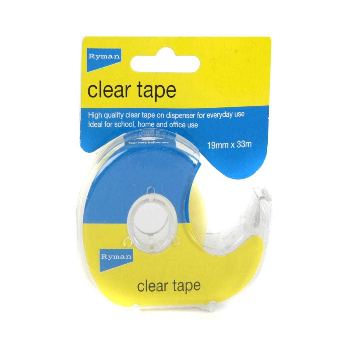 Ryman Clear Tape 19mm x 33m On Dispenser